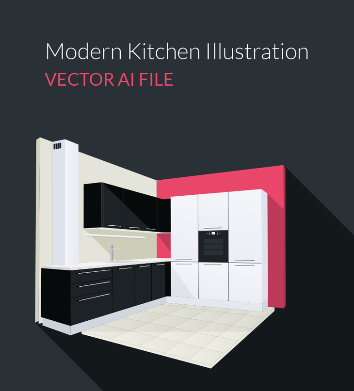Vector Kitchen Illustration preview
