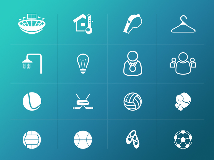 Sport related icons pack preview