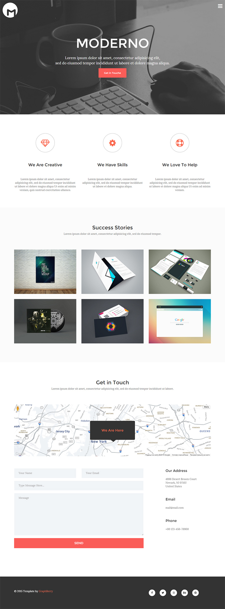 moderno free html5 responsive template preview