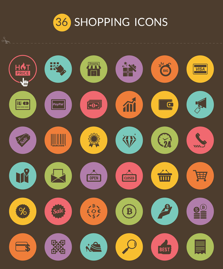 36 Free Shopping icons preview