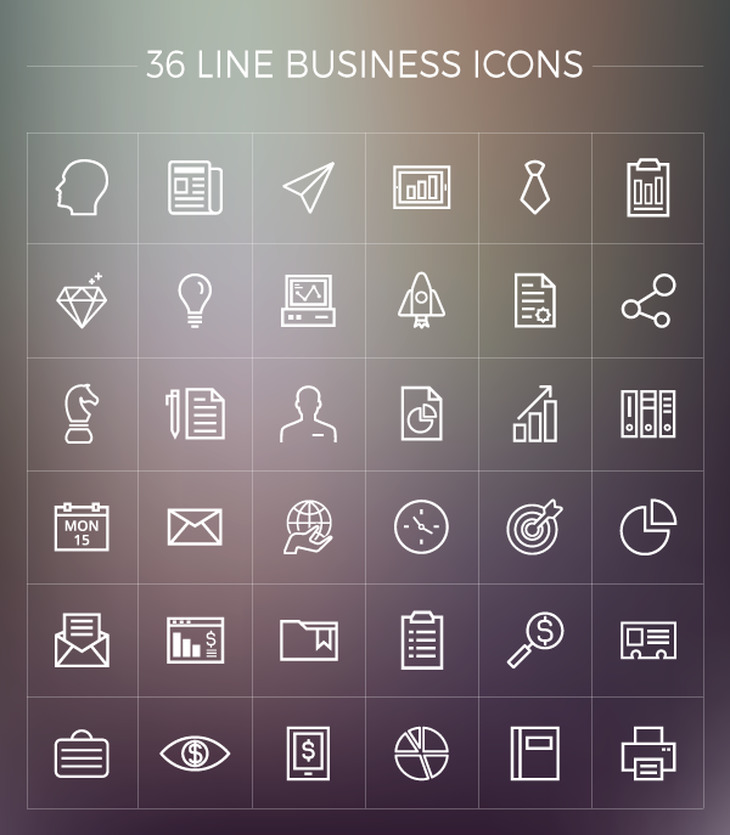 free line business icons pack