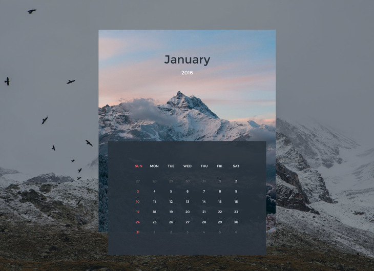 Free Vector Calendar Design preview