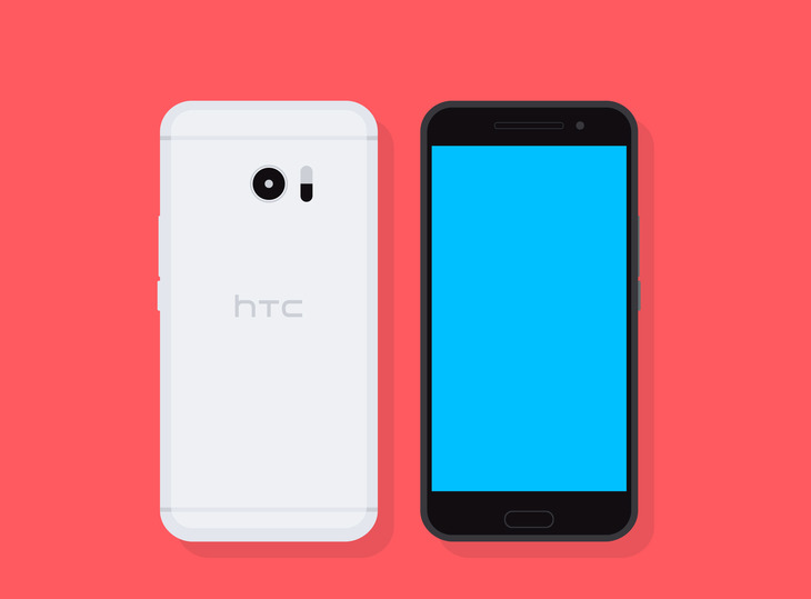 Flat Vector HTC 10 Smartphone preview