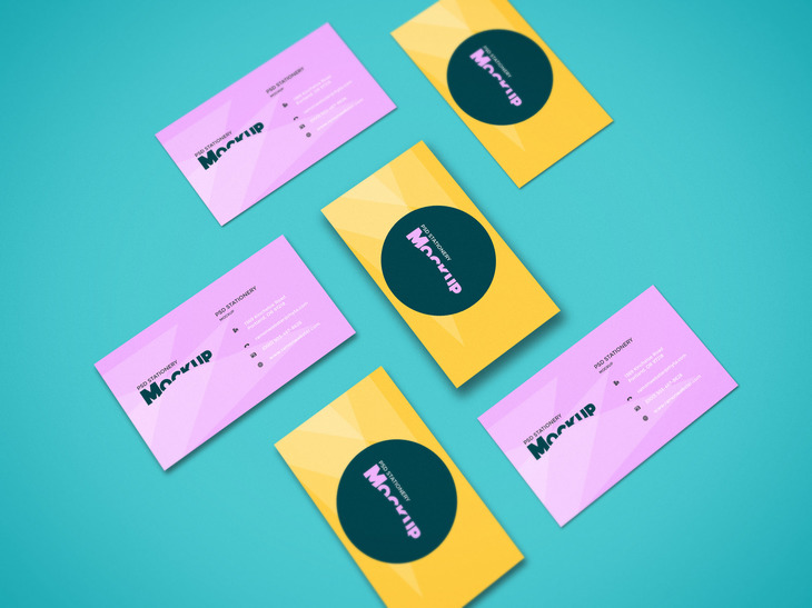 Perspective Business Cards Mockup preview