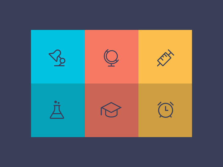 6 Modern Education Icons preview