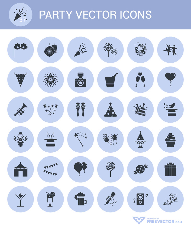 Free 37 Party Vector Icons preview