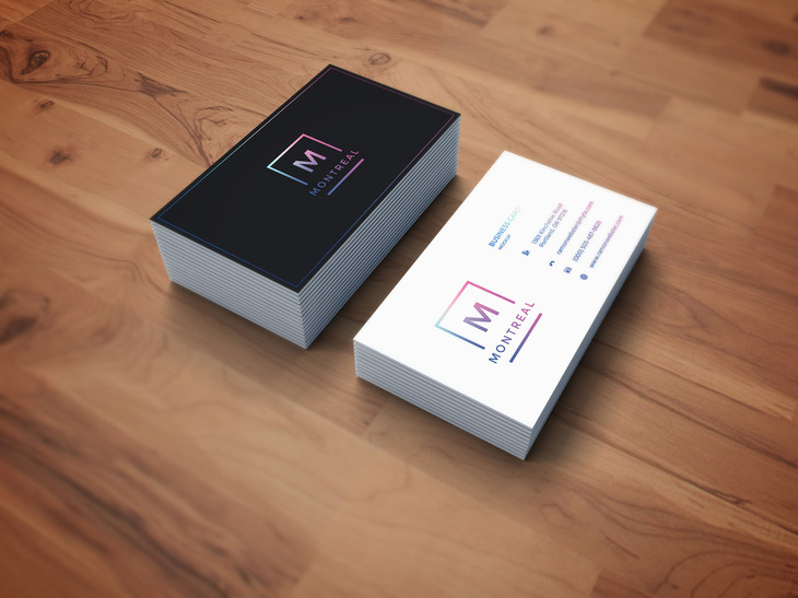 Photorealistic Business Card Mockup Graphberry