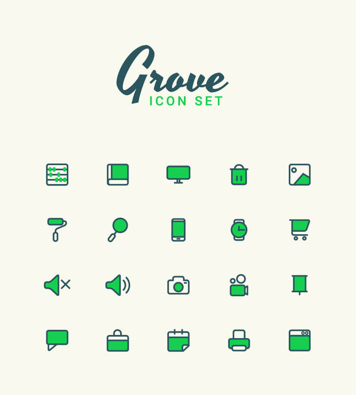 Grove - Free Vector Icon Set preview