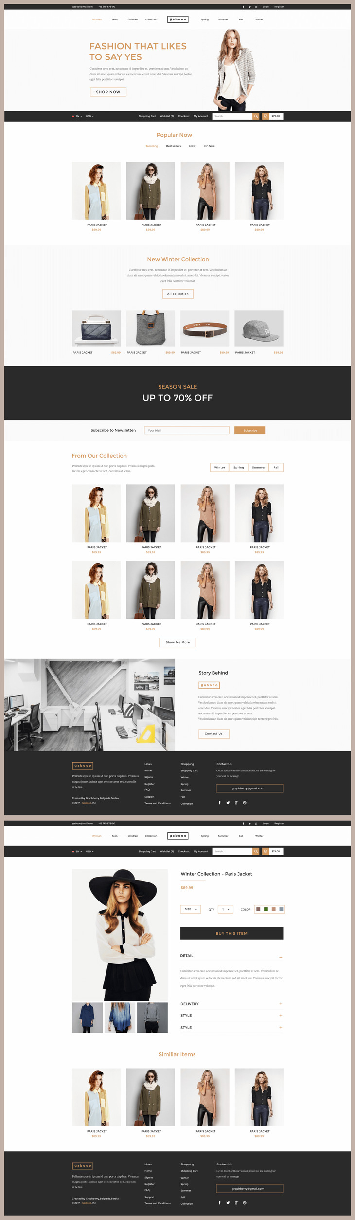 Gabooo - Fashion eCommerce Theme - graphberry.com