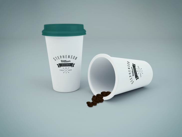 Coffee Cup PSD Mockup preview