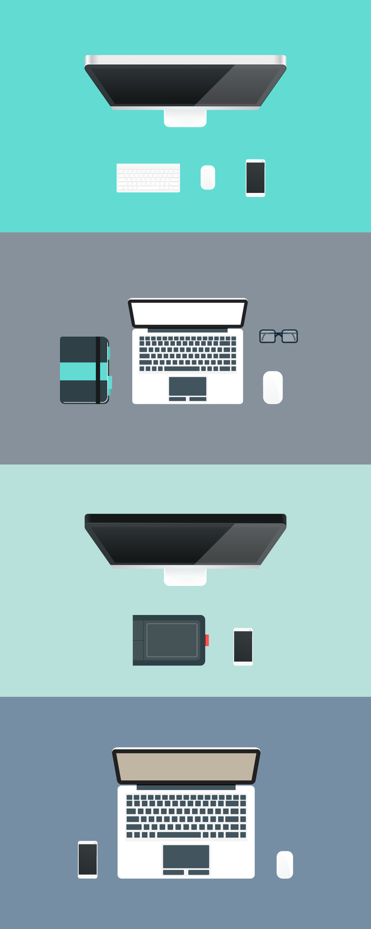 Flat Workspace Illustrations preview