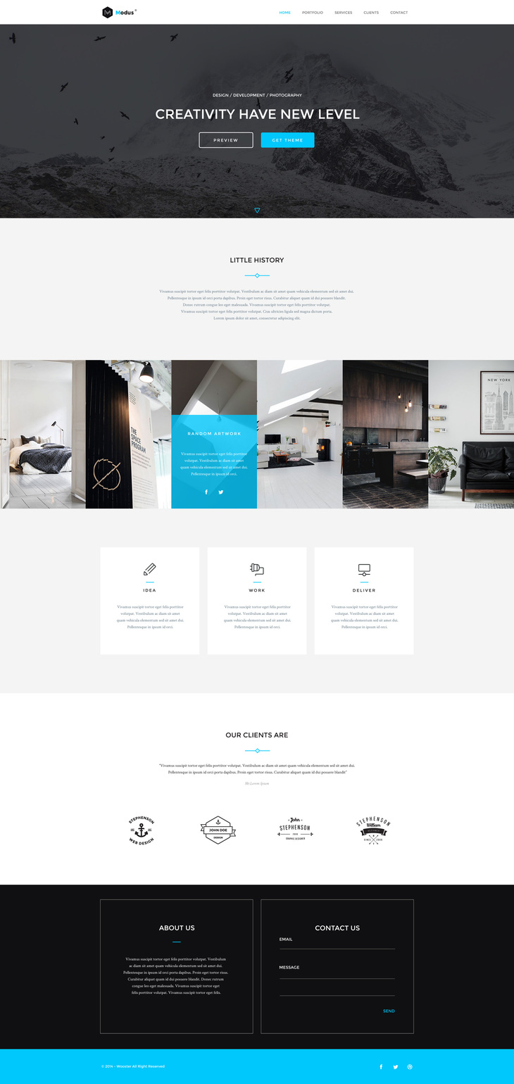 Modus - Free Bootstrap Single Page Portfolio Template preview