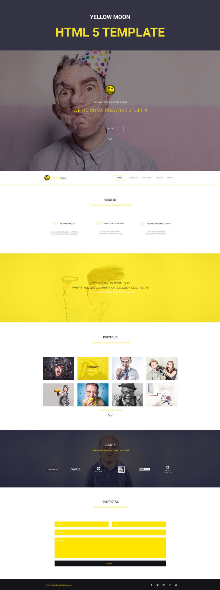 YellowMoon - Free HTML Landing Page preview