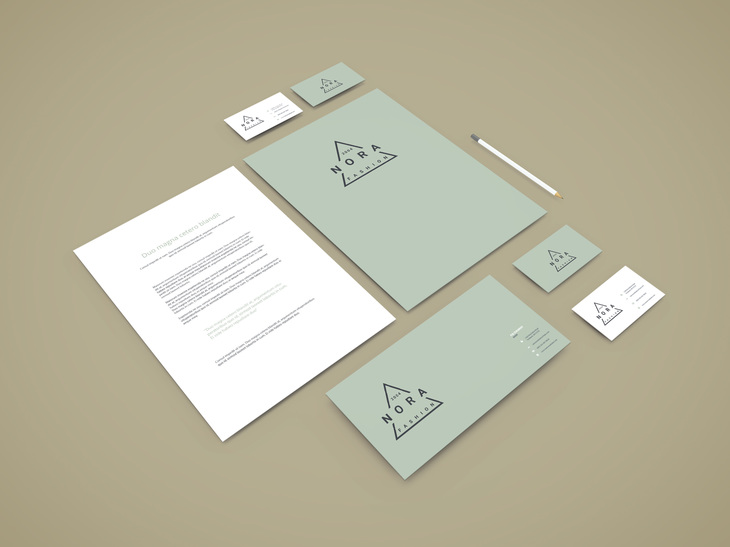 Perspective Branding Stationery Mockup preview