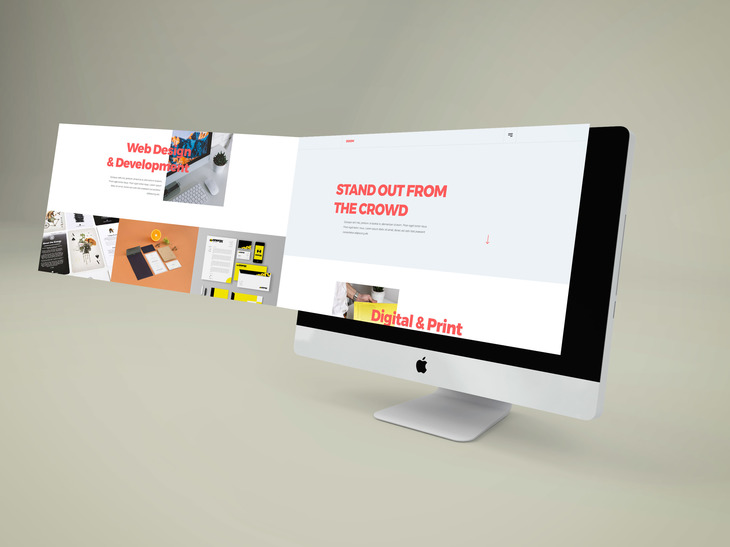 iMac Perspective Extended Screen Mockup preview