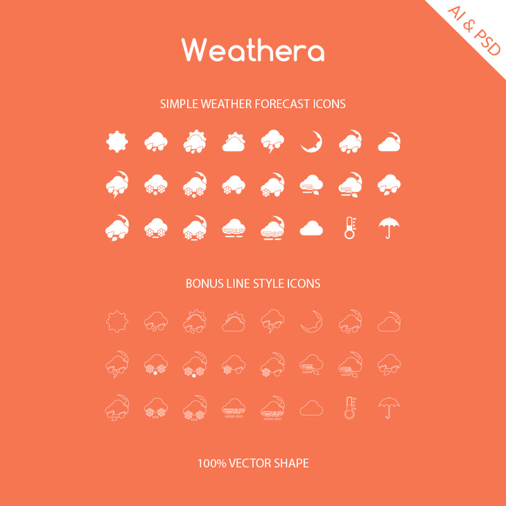 Weathera - Simple Weather Icons preview
