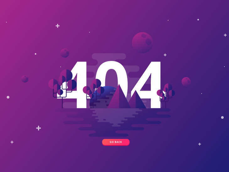 404 Page Template preview
