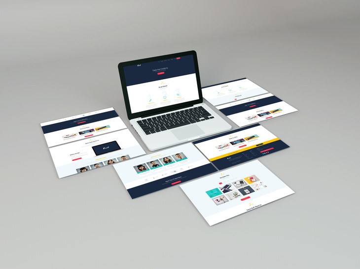 Web Screen PSD Mockup preview