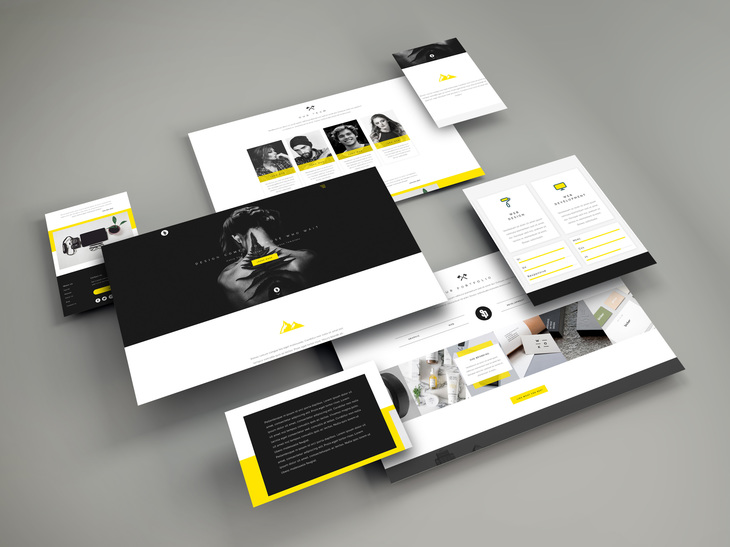 Web Screens PSD Mockup preview
