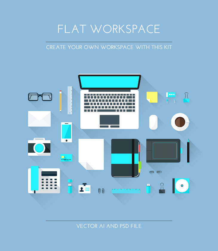 Designer Flat Workspace Elements preview