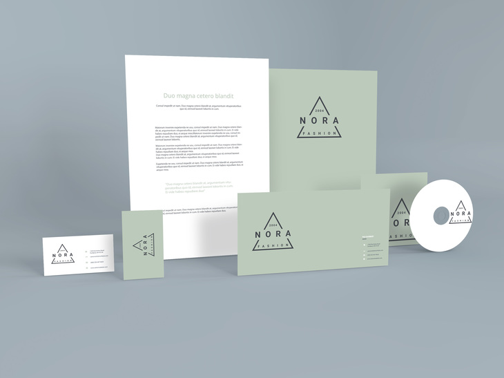 Standing Stationery PSD Mockup preview