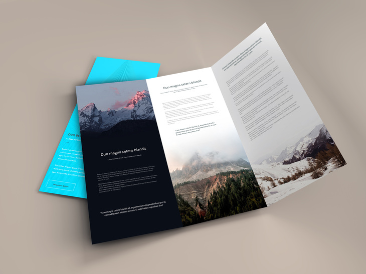 Trifold Brochure PSD Mockup preview