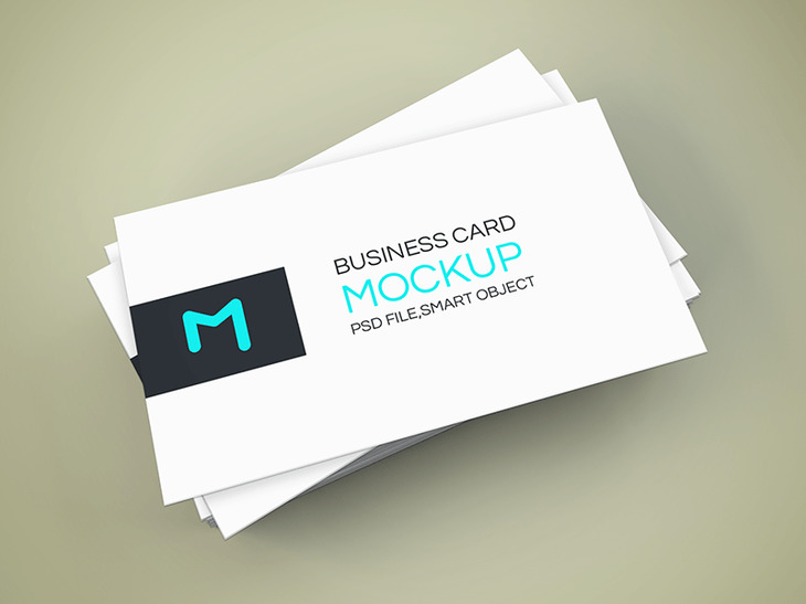 Elegant Business Card Mockup Graphberrycom - Single business card template