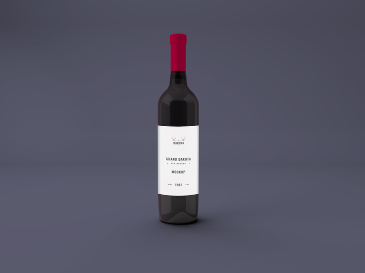 Wine Bottle PSD Mockup preview