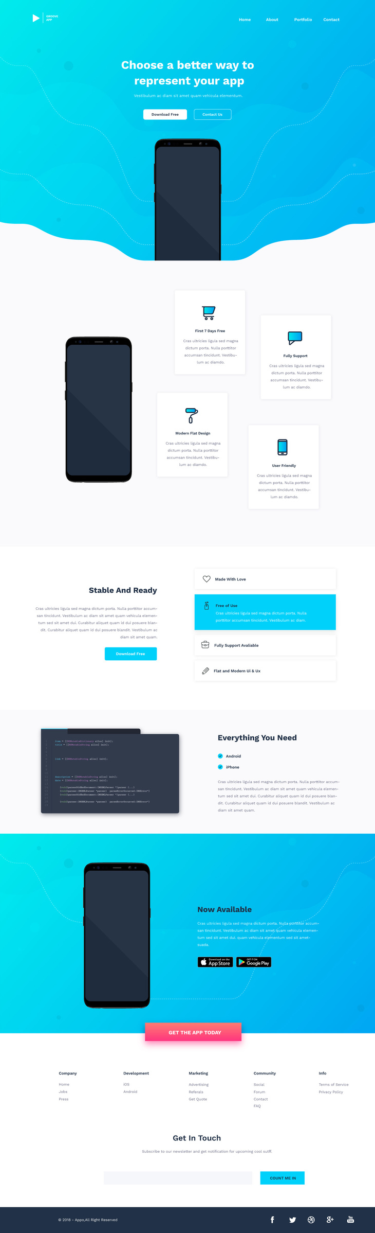 Vibo - PSD Landing Page Template preview