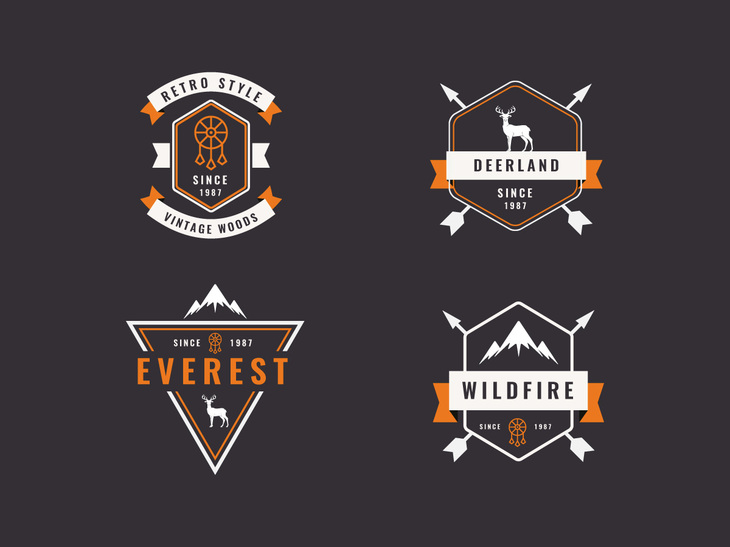 Vector Vintage Insignias preview