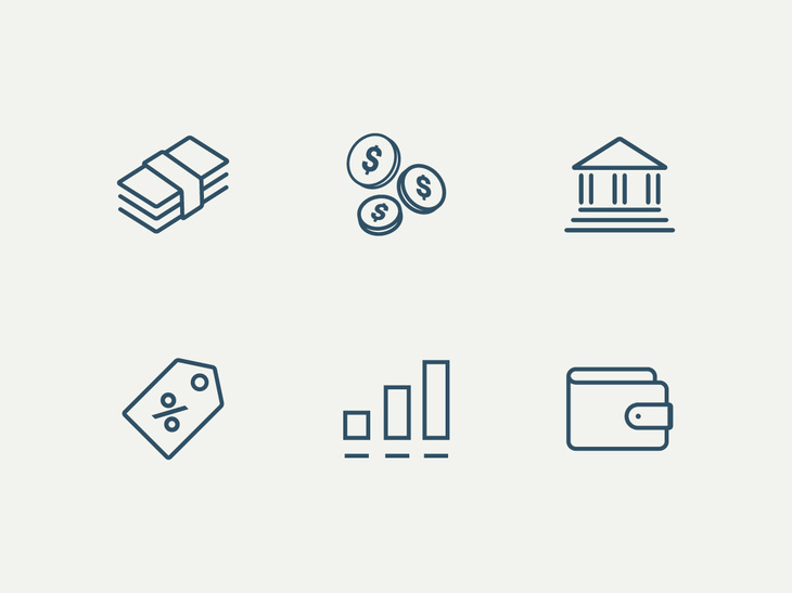 6 Money Vector Icons preview