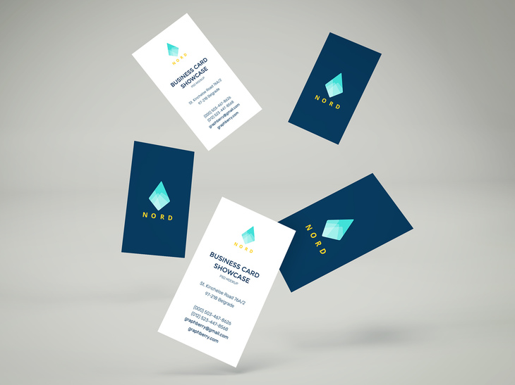 Falling Business Cards Mockup Vol.2 | Free PSD