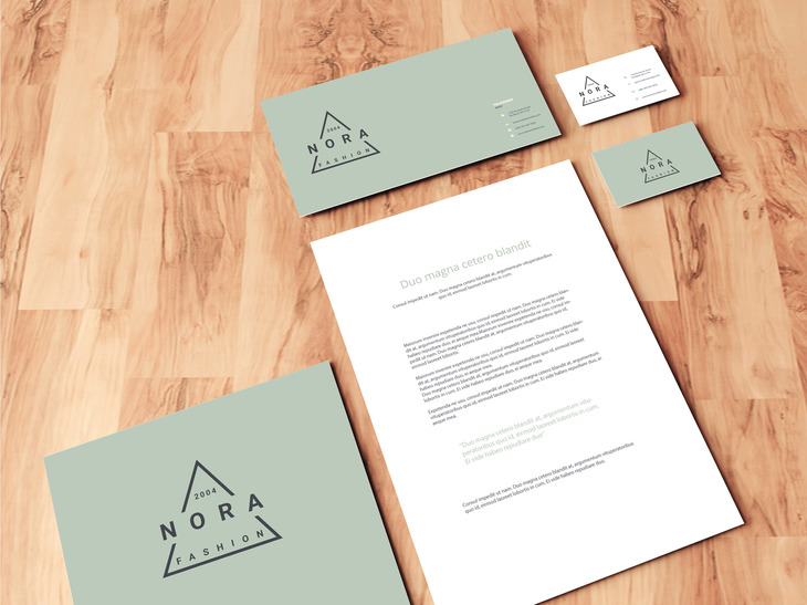 Stationery On Wooden Floor Mockup | Free PSD