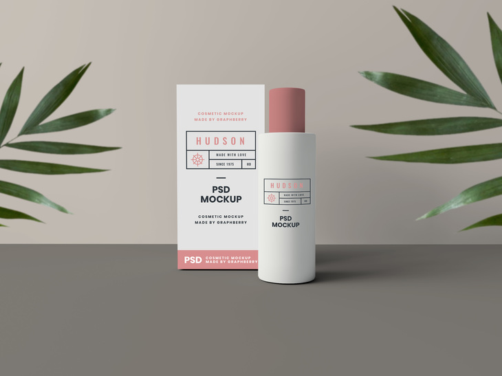 Cosmetics Packaging Mockup | Free PSD