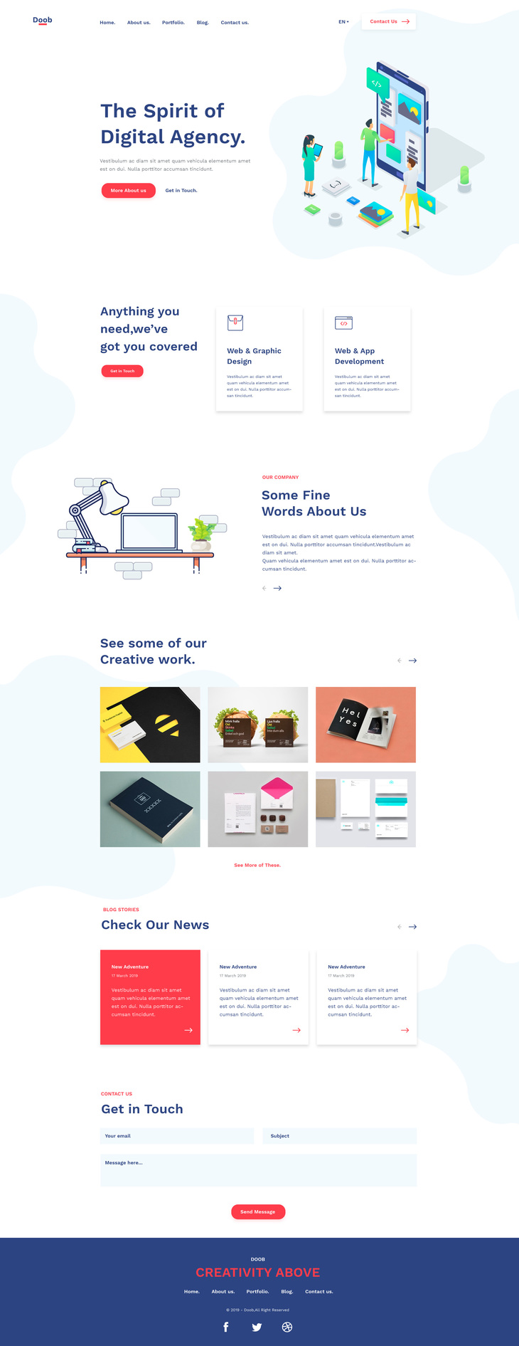 Doob - Free Agency HTML Template preview