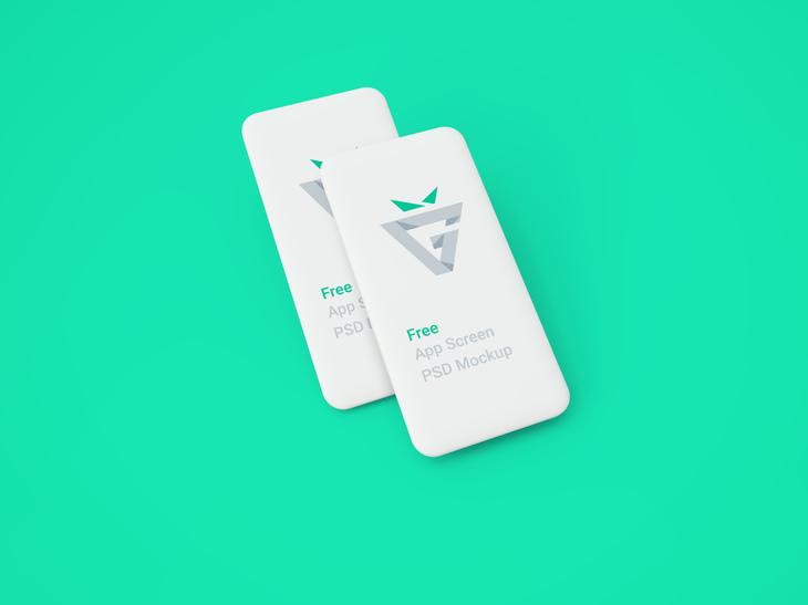 White Blank Mobile Screens Mockup preview