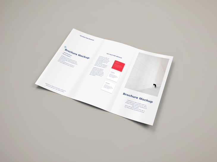 Free Brochure PSD Mockup preview