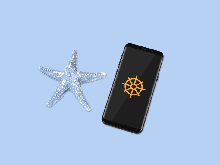 Smartphone Mockup With Sea Star