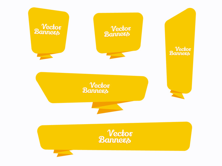 Vector Yellow Banners preview