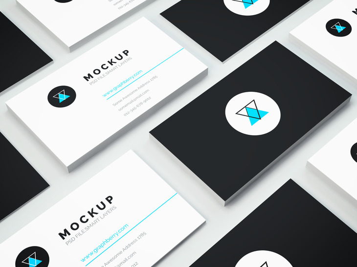 Isometric Business Card Mockup Vol3 Graphberry