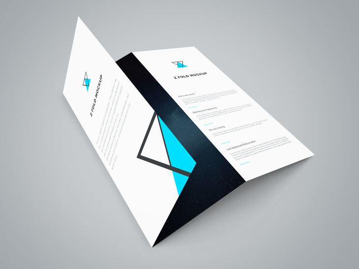Tri Fold Brochure PSD Mockup preview
