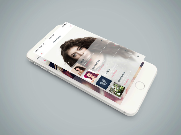 Isometric iPhone 6 PSD Mockup preview
