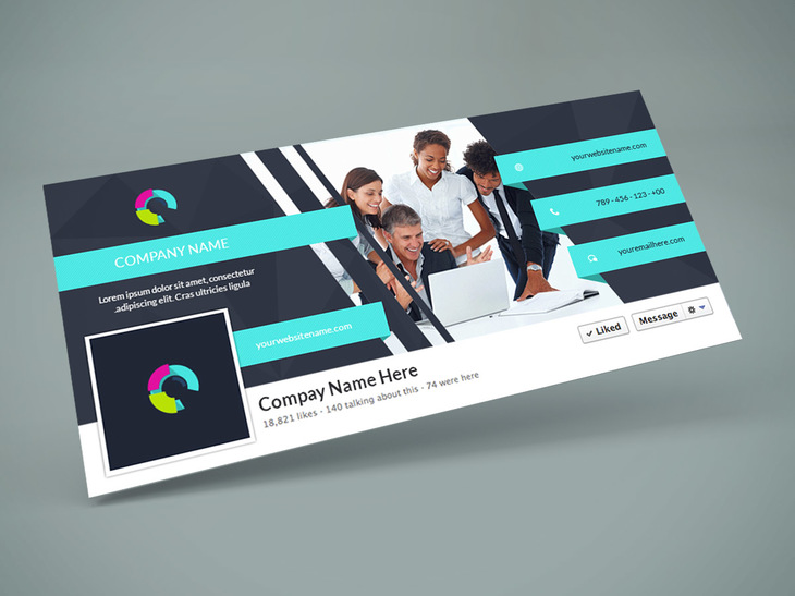 Facebook Cover PSD Design Template preview