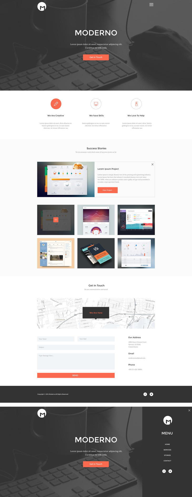 Moderno - Creative Simple Portfolio Page preview