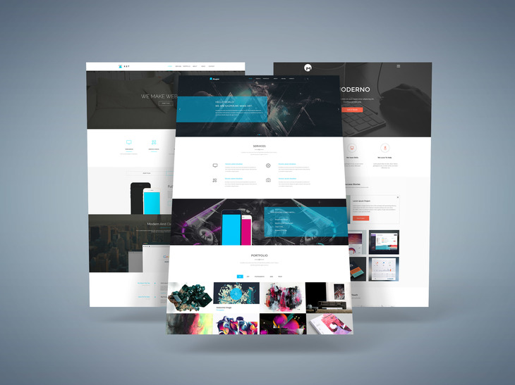 3D Web Presentation Mock-Up preview