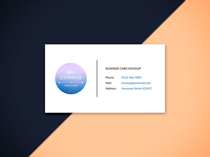 Business Card Mockup Vol Graphberrycom - Single business card template