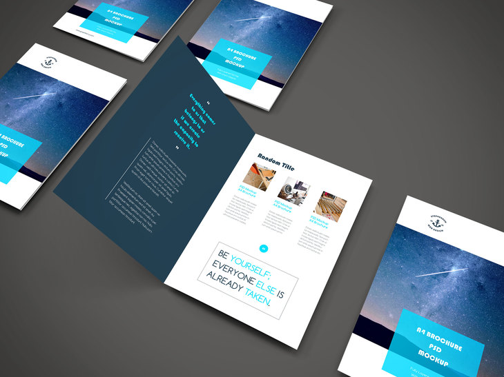A4 Brochure PSD Mockup preview