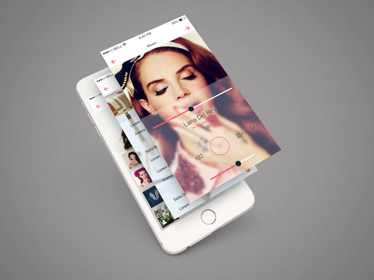 iPhone 6 App Screen PSD Mockup preview