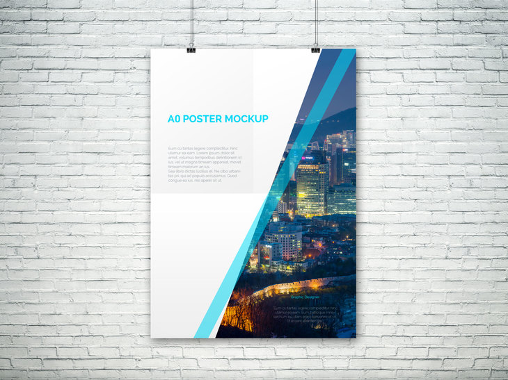 A0 PSD Poster Mockup preview
