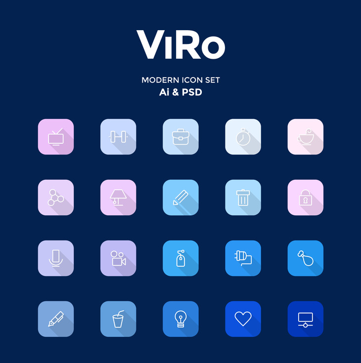 Viro - Modern Icon Set preview